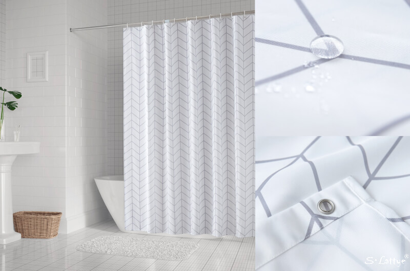 white arrow shower curtains