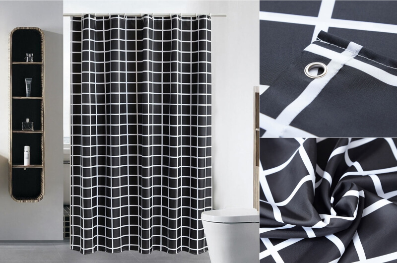 Black Grid Curtain