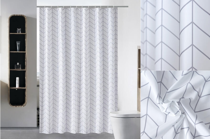 White arrow shower curtain
